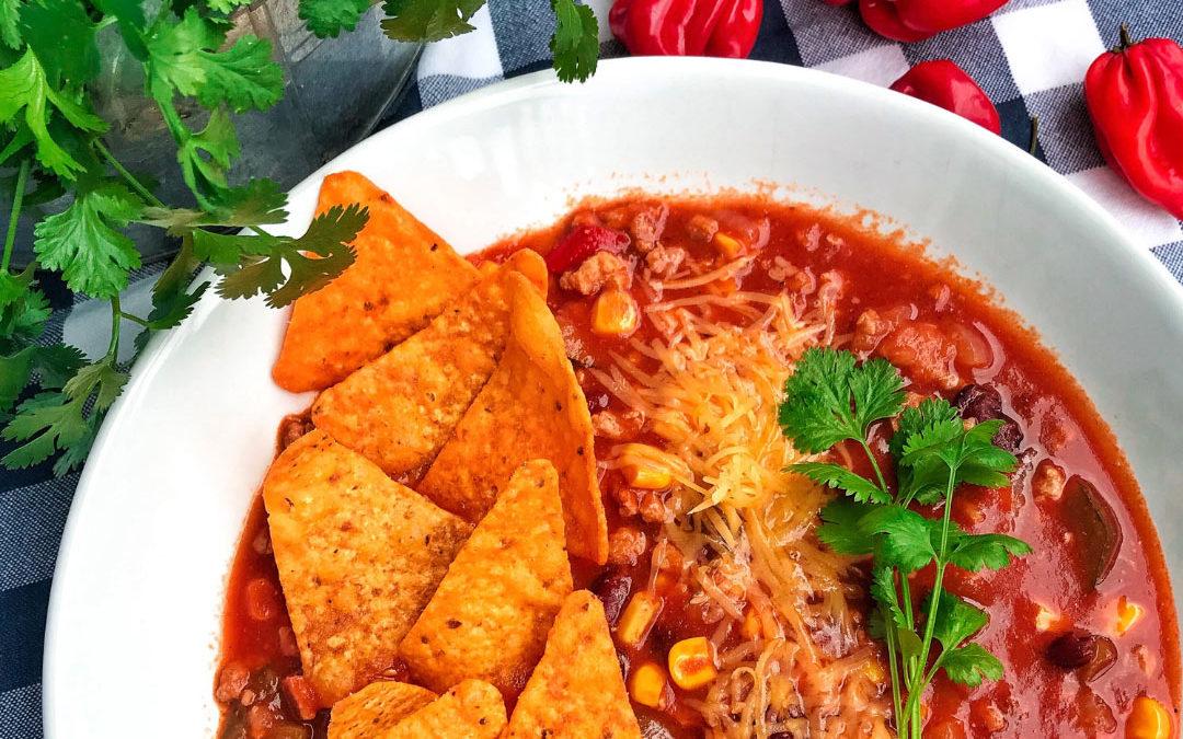 Meksykańska zupa z nachosami