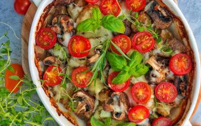 Zapiekany schab z warzywami